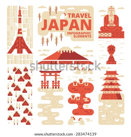 Travel Japan Infographic Elements - stock vector