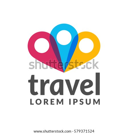 Travel Logo Pin Location On Map Concept Icon Trip