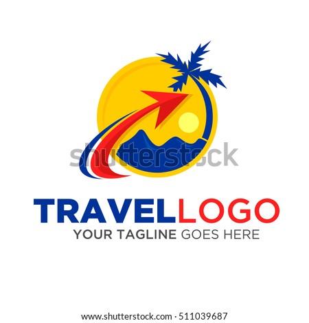 travel logo vector eps10 stock vector 511039687 - shutterstock