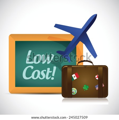 travel low cost concept illustration design over a white background - stock vector