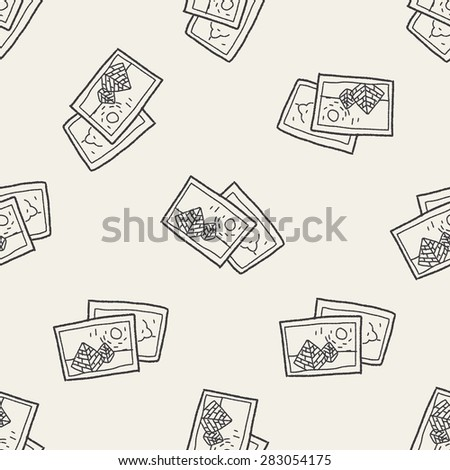 travel pictrue doodle seamless pattern background
