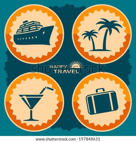 Travel poster design - stock vector