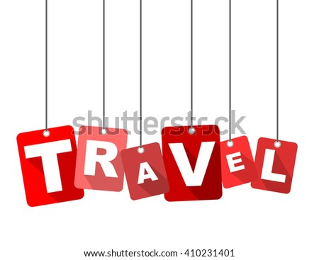 travel, red vector travel, red tag travel, flat vector travel, element travel, sign travel, design travel, background travel, illustration travel, picture travel, travel eps10 - stock vector