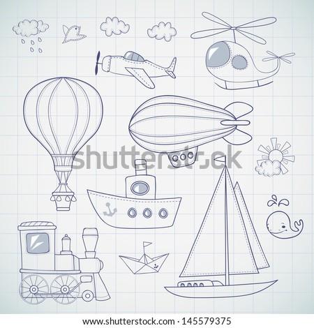 Travel set. - stock vector