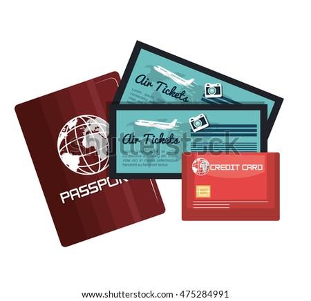 passport credit card airline boarding pass stock vector 454249045 shutterstock. Black Bedroom Furniture Sets. Home Design Ideas