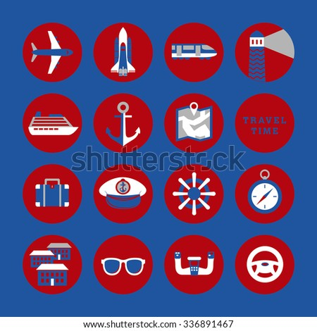 Travel Signs Symbols Icons Stock Vector 2018 336891467 Shutterstock