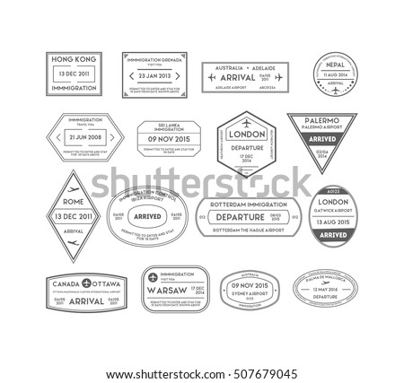 Passport Stamps Stock Images, Royalty-Free Images & Vectors