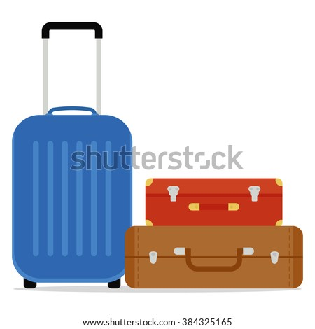 Travel Suitcases Vector - stock vector