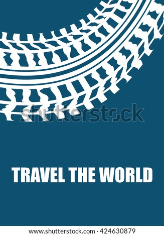 travel the world abstract background - stock vector