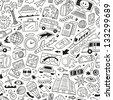 Travel,transportation - seamless background - stock vector