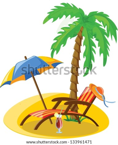 Travel vacation vector background - stock vector