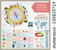 Travel. Vacations. Beach resort infographics. Elements for creating your own infographics. Vector illustrations - stock