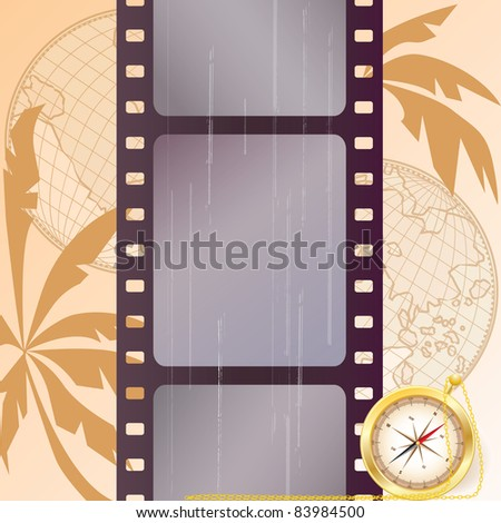 travel vector film strip background (EPS 10)