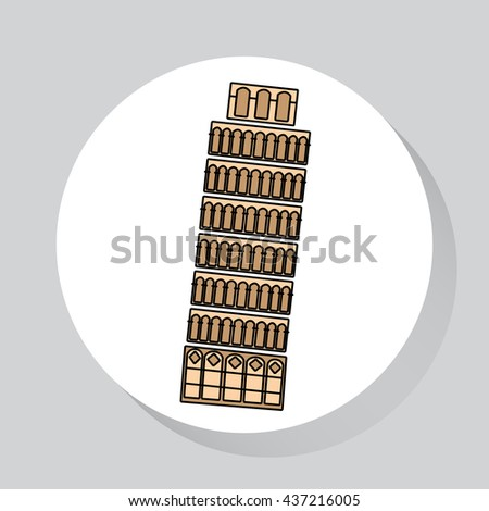Travel - web line icon of Italy. Vector image. - stock vector