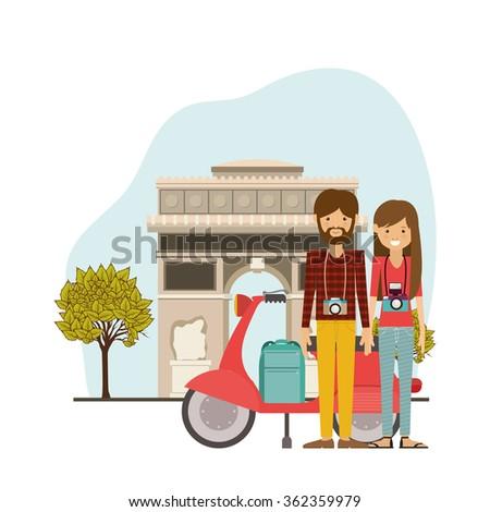 Traveler lifestyle design  - stock vector