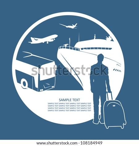 Traveler - vector illustration - stock vector