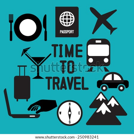 Traveling and transport icons for Web and Mobile App