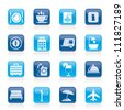 Traveling and vacation icons - vector icon set - stock vector