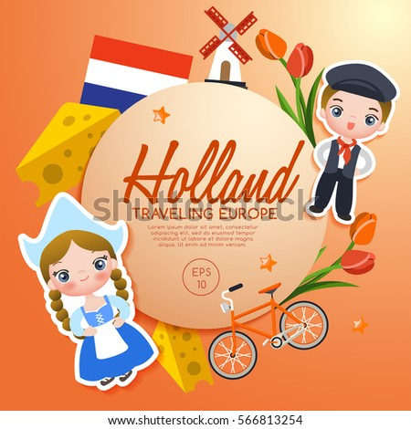 Traveling europe holland tourist attractions vector stock vector traveling europe holland tourist attractions vector illustration m4hsunfo