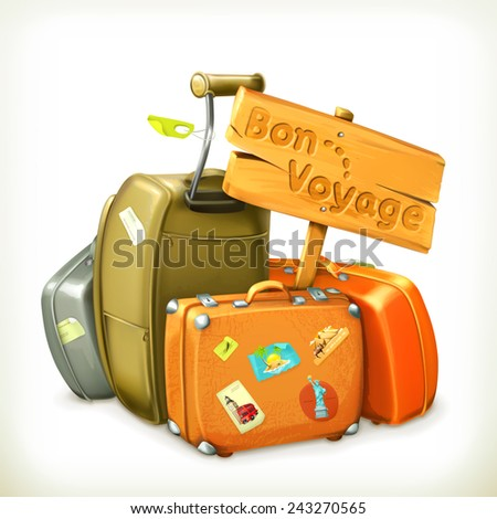 Traveling icon, vector illustration - stock vector