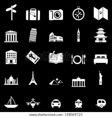 Travels icons set - stock vector