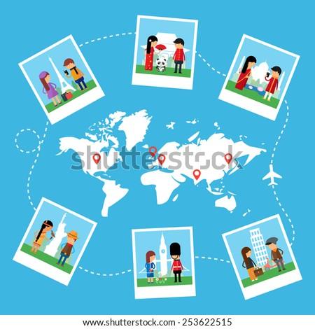 Travels vector illustration - stock vector