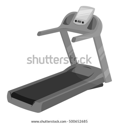Treadmill icon monochrome. Single sport icon from the big fitness, healthy, workout monochrome.