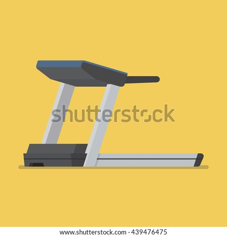 Treadmill sport equipment. Flat style vector illustration - stock vector