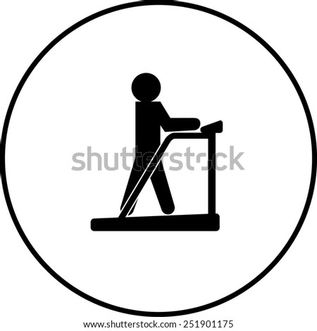 treadmill symbol - stock vector