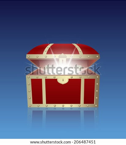 treasure box - stock vector