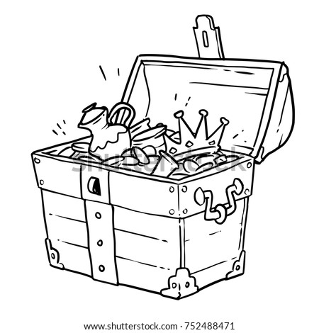 treasure chest lock coloring pages - photo#29