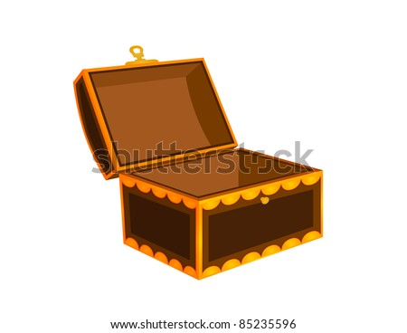 Treasure Chest / Trunk - Vector Illustration - stock vector