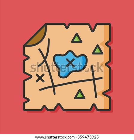 Hunting Icon Stock Photos, Royalty-Free Images & Vectors ... Treasure Map Icons