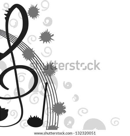 Treble clef for your design. A vector illustration - stock vector