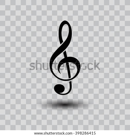 treble clef  icon. One of a set of linear web icons - stock vector