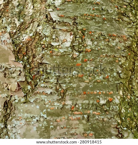 Tree bark background with a lot of details vector - stock vector