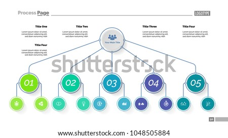 Tree chart five options organizational chart stock vector royalty tree chart with five options organizational chart business hierarchy diagram creative concept for ccuart Image collections