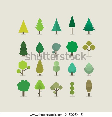 Tree color - stock vector
