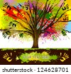 tree. cooperation - stock vector