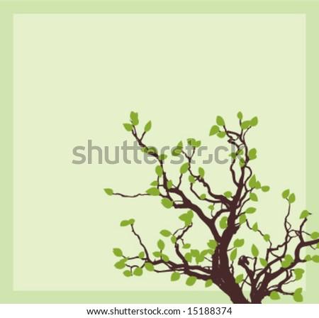 Tree corner - stock vector