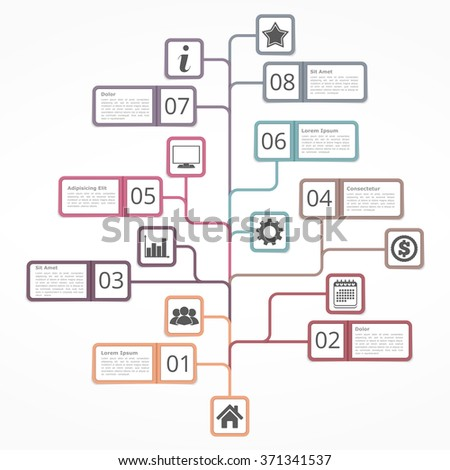 tree diagram template numbers icons place stock vector 371341537, Wiring diagram