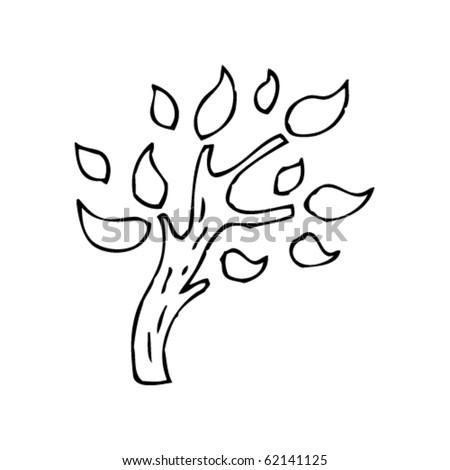 tree drawing - stock vector