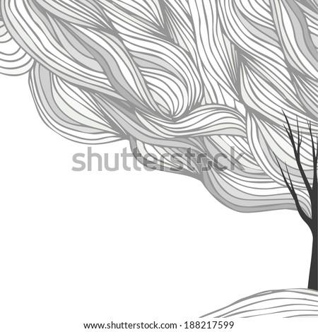 tree. graphics - stock vector