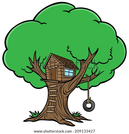tree house stock vector 209133427 shutterstock rh shutterstock com magic tree house clipart Magic Tree House Clip Art