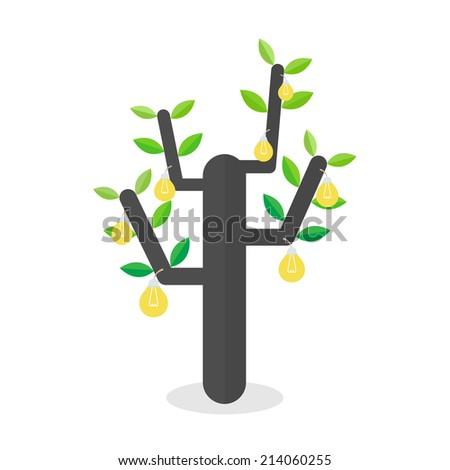 tree idea concept. vector illustration - stock vector
