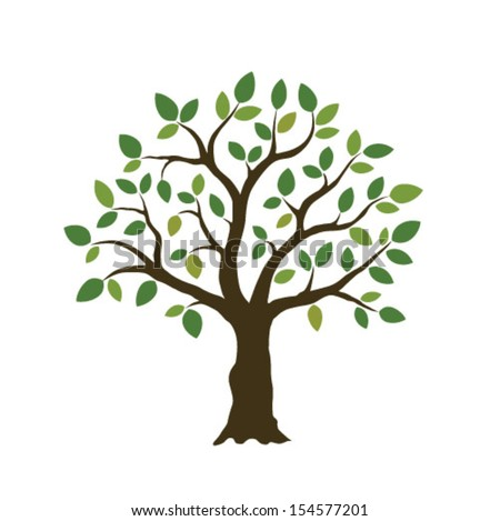 tree illustration - stock vector