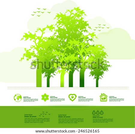 Tree in nature vector illustration