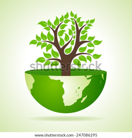 Tree inside the earth- vector illustration - stock vector