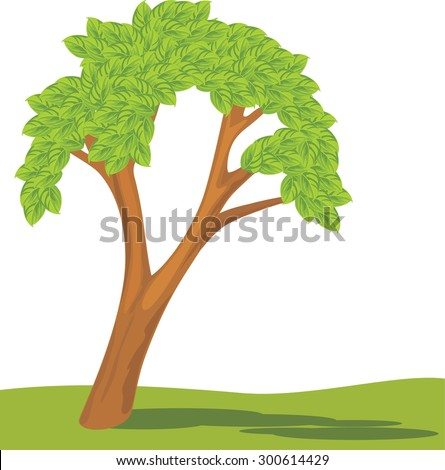 Tree isolated on a white. Vector - stock vector
