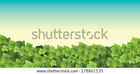 tree leaves and trees - stock vector